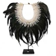 Papua Feather neckless on stand
