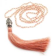 Neckless Budha pink