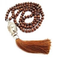 Neckless Budha brown wood