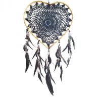 Heart Dreamcatcher wood 27 cm black