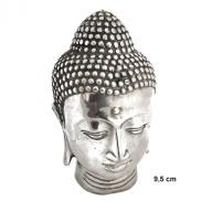 Silverplated Budha head  9.5 cm
