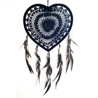 Heart Dreamcatcher crocheted 27 cm