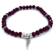 Bracelet crystall beads burgundy