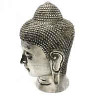 Silverplated Budha head  22 cm
