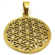Bronze Pendent Flower of life