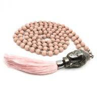 Neckless Budha pink wood