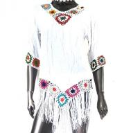 Poncho top Embrodery
